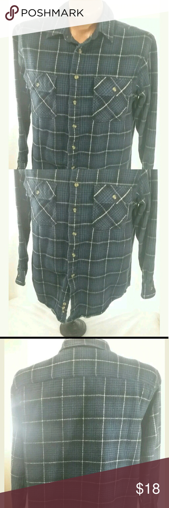 David Taylor Mens Thick Cotton Flannel Shirt Large For sale is a Men's David Taylor Shirt Size L - Very Good Pre-owned Condition -? No holes or stains??  Approximate Measurements?? Pit to Pit- 23 Sleeve - 23? LFC- 30.5?  Please, view all pictures, and ask questions if you have any.?? I GENERALLY SHIP OUT WITHIN ONE BUSINESS DAY OF RECEIVED PAYMENT.?? David Taylor Shirts Casual Button Down Shirts