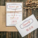 Rustic Wedding Invites, Sherma Mills, Philadelphia Weddings {Queen Bee Paperie}