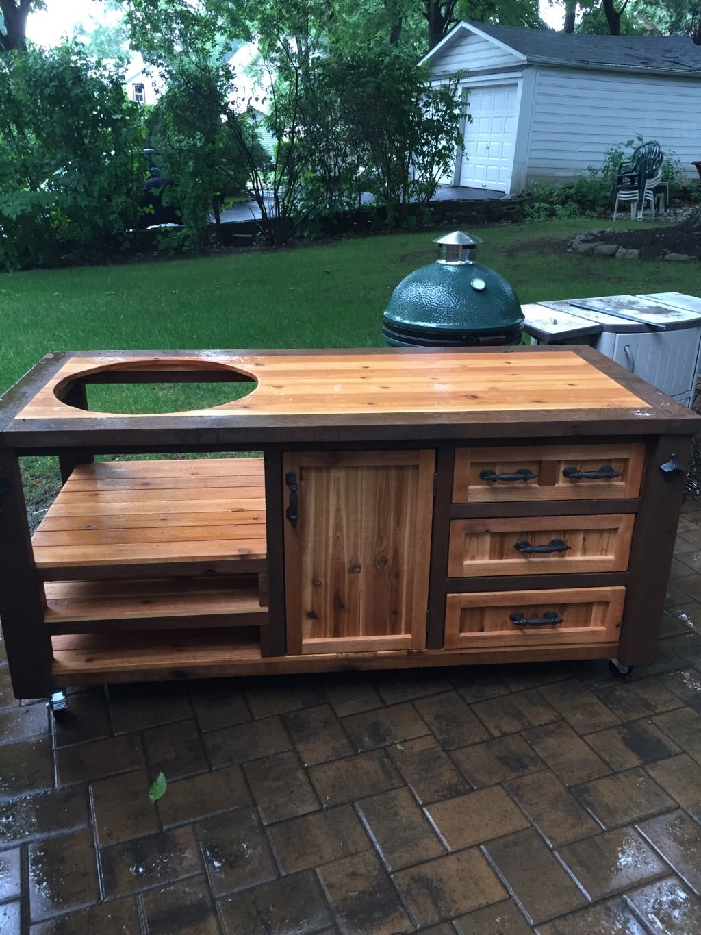Grill Table Outdoor Grill Station Big Green Egg Outdoor Kitchen Grill Table