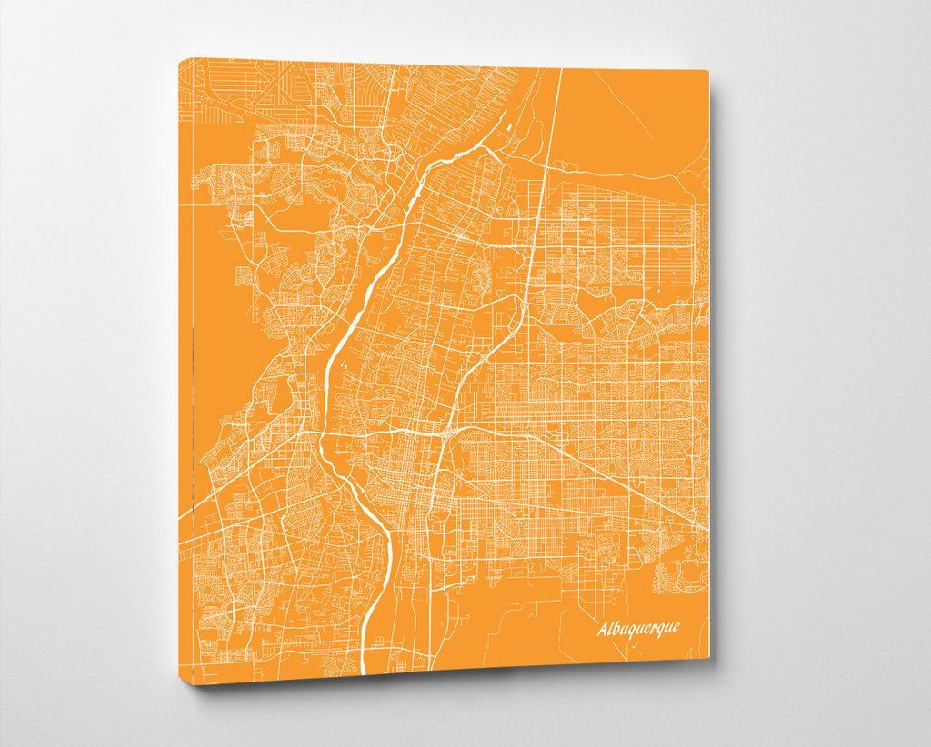 Albuquerque, New Mexico City Street Map Print Custom Wall ...