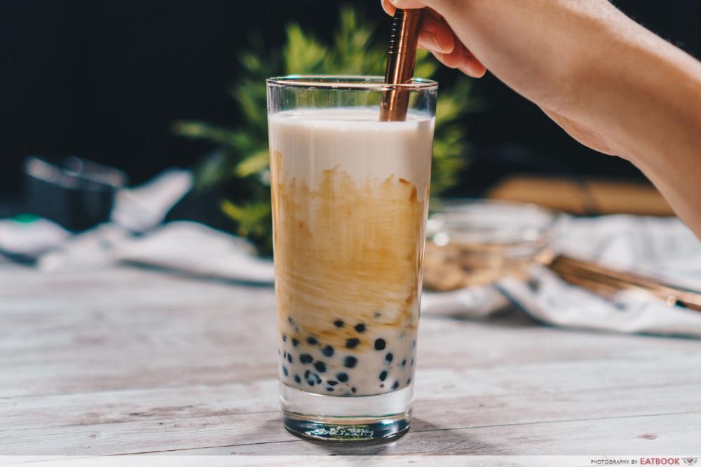 Brown Sugar Pearl Fresh Milk Recipe Cheap Homemade Boba Tea That S Just As Good Eatbook Sg Boba Tea Milk Recipes Bubble Milk Tea