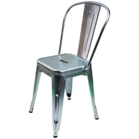 Cadeira Tolix Francesinha Galvanizada Prata R$ 239,37
