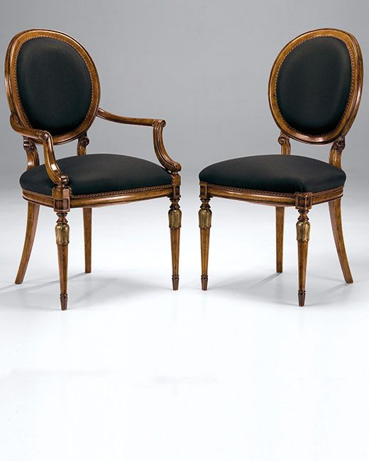 Chairs | Luxury Italian Furniture | Louis XVI Style Beech Wood Chairs In  Hand