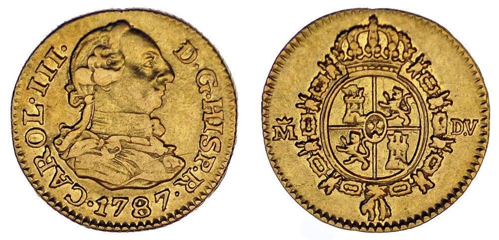 1 2 Gold Escudo Oro Durillo Charles Iii Carlos Iii Madrid 1787 Vf Mbc Monedas Moneda Española Oro