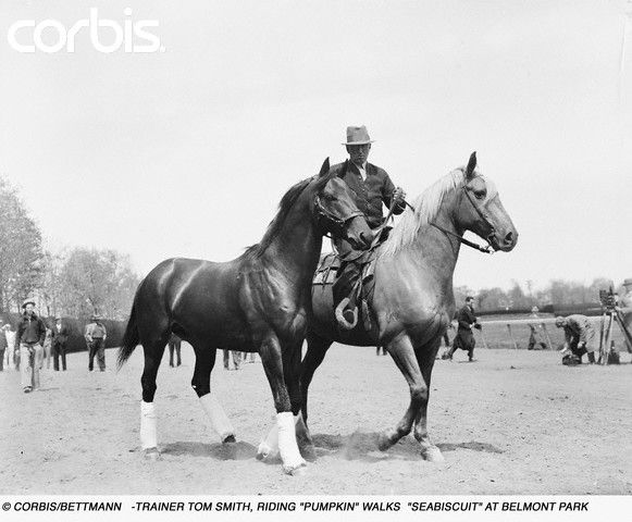 Trainer Tom Smith Leading Seabiscuit Horses Thoroughbred Horse Horse Love