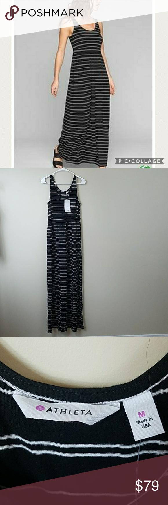 c304622659 NWT Athleta Striped Maxi Dress NWT Athleta Black & White Striped Maxi  dress. Size