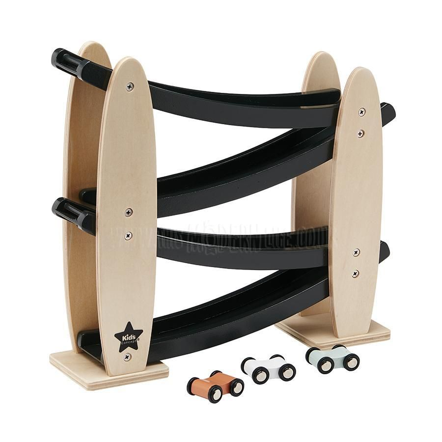 Kids Concept Toy . Car Track / Black & NaturalToddlers And