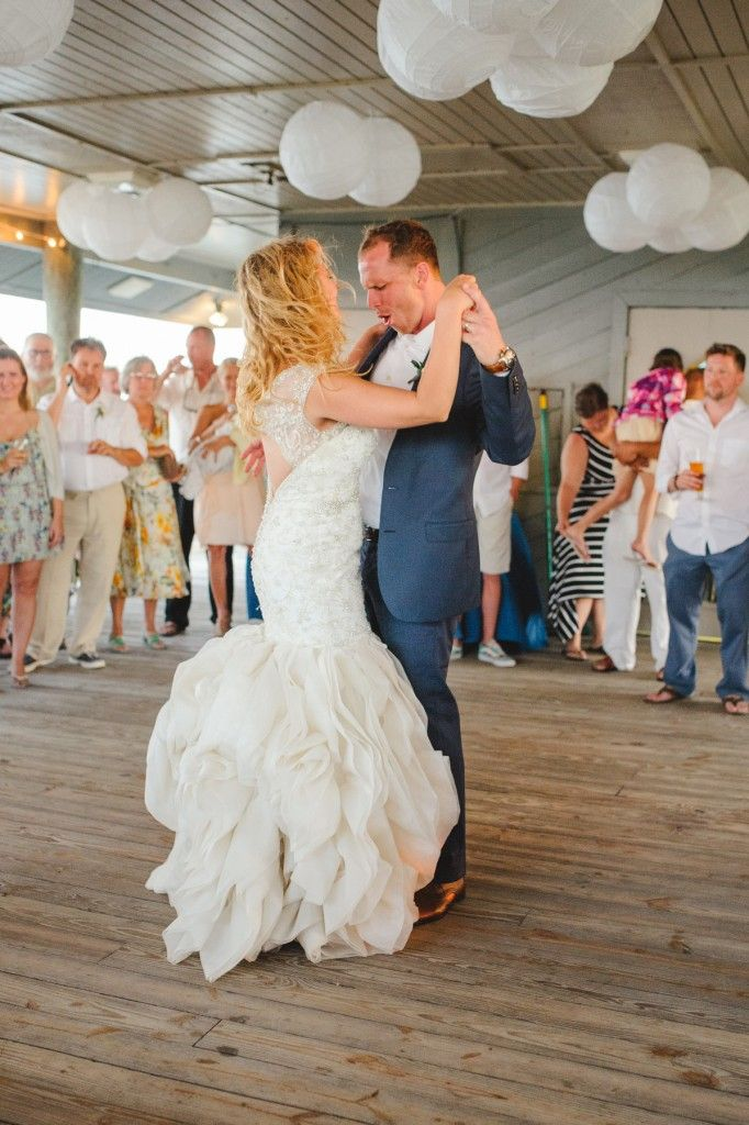 First Dance For A Folly Beach SC Wedding Groom Is All About His Lovely