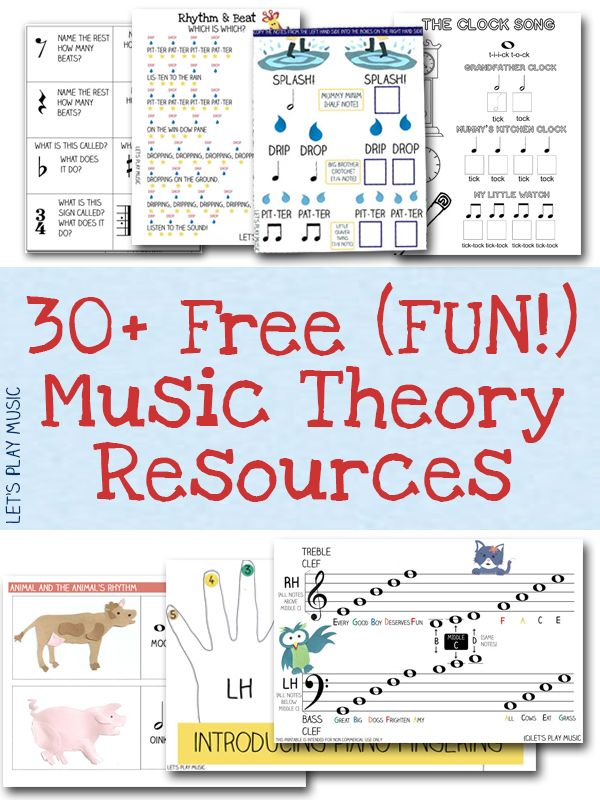 Free Resources Free Sheet Music and Theory Printables – Printable Music Theory Worksheets