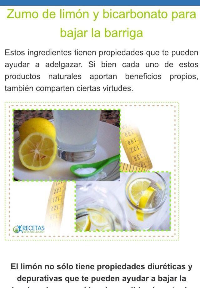 Agua limon y bicarbonato de sodio para adelgazar