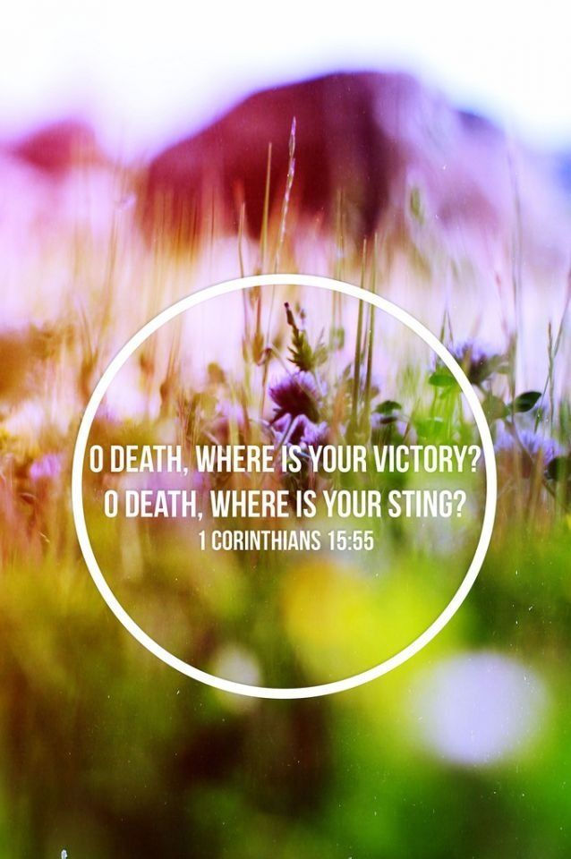 O, Death, where is your sting? O, Hell, where is your victory? O ...
