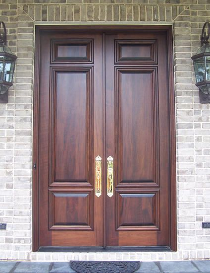 Custom French Country Solid Wood Double Doors
