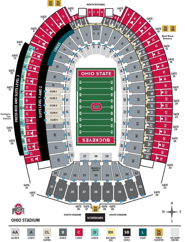 Ohio Stadium Seating Chart Ohio State Buckeyes Throughout Michigan