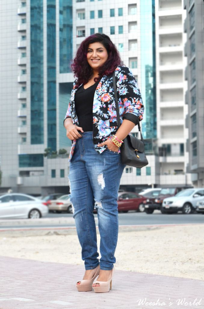 plus size boyfriend jeans - Jean Yu Beauty
