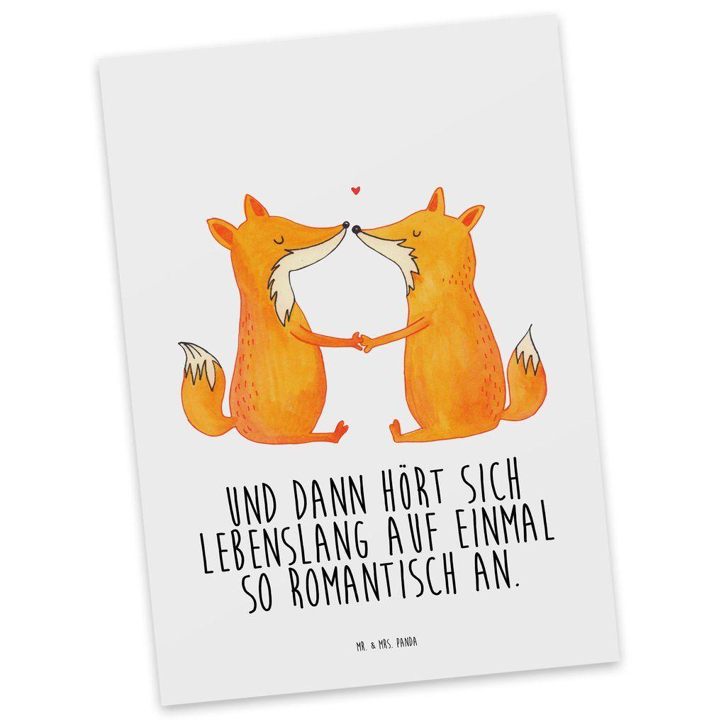 Postkarte Füchse Liebe aus Karton 300 Gramm