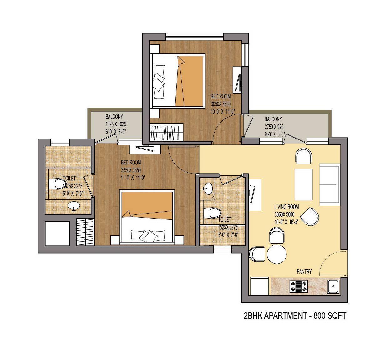 one bedroom cluster floorplans - Google Search