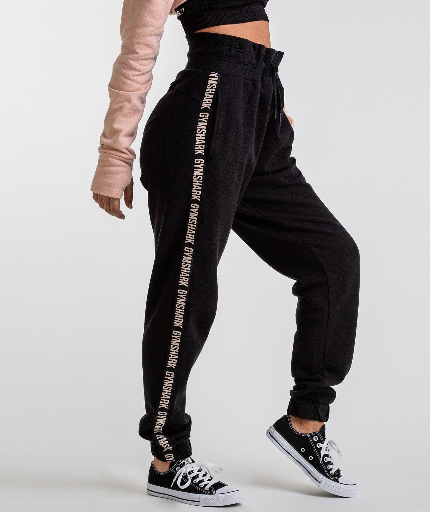 Womens Cropped Joggers Plain Crop Cotton Sweat Pants Bottoms Cuff Gym Dance New
