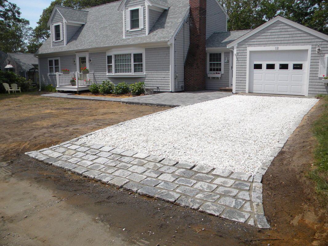 rock driveway with stone edging   driveway   pinterest   gravel