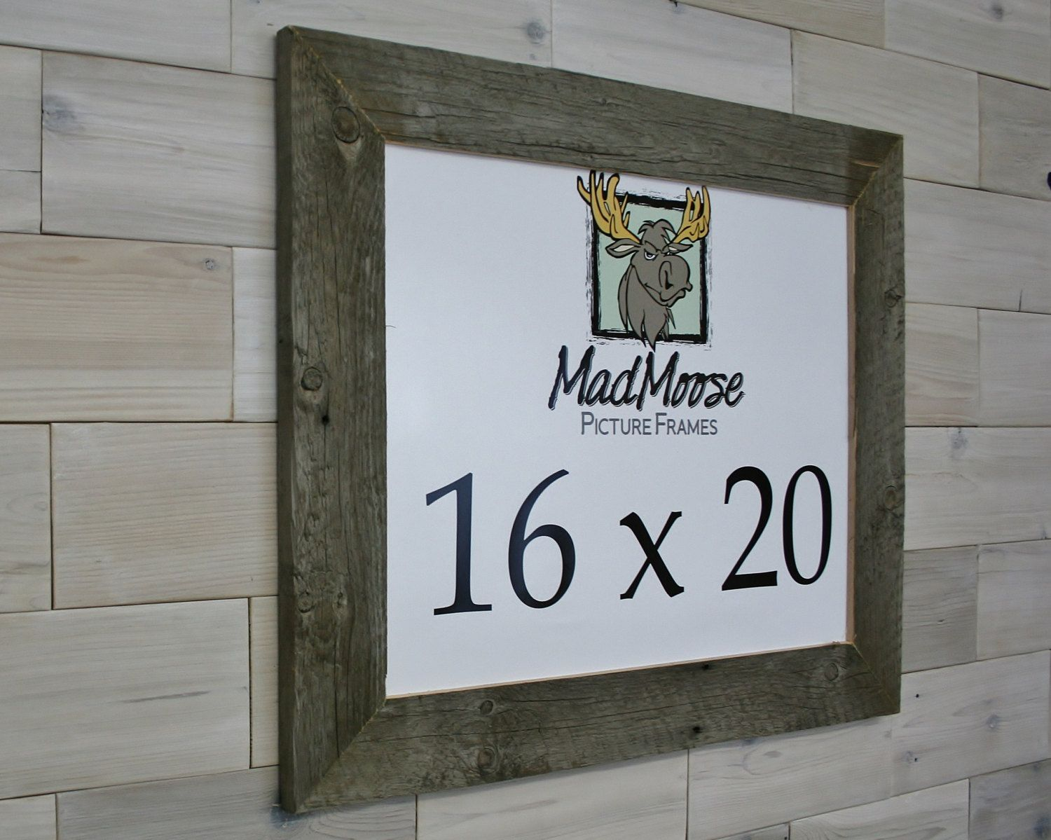 Barn Wood 16x20 Picture Frame [style: Thin x 3\