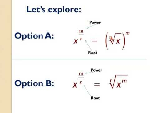 Fractional Exponents Youtube Basic Algebra High School Math