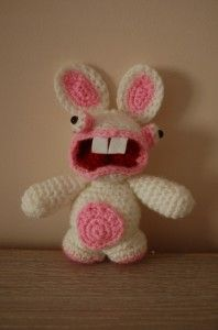 Raving rabbid stuffie! There's a pattern, but it's French...