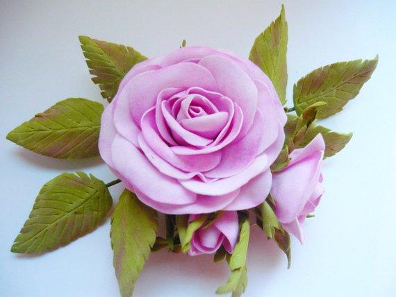 Pink Flower Brooch Hair Accessory Fl Pin Wedding Rose Bridal Bridesmaids Gr