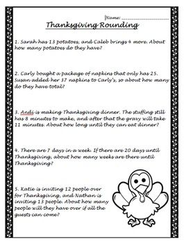 Spelling Sight Words Worksheets Word A Rounding Worksheet That Is Based Around Thanksgiving  Nd  Fall Of Rome Worksheet Pdf with Rounding Decimals Worksheet Pdf Pdf A Rounding Worksheet That Is Based Around Thanksgiving Mathematical Patterns Worksheets Excel