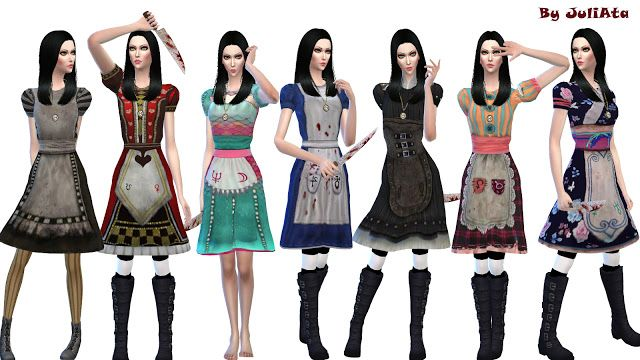 Alice S Dress For Sims 4 Sims Sims 4 Clothing Sims 4