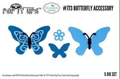 Elizabeth Craft Designs Butterfly Accesory Dies 773
