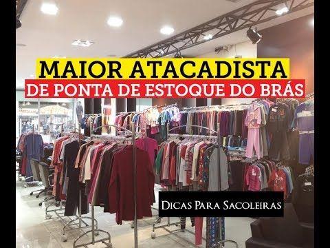 ee9a8b12d Maior Atacadista de Ponta de Estoque do Brás - YouTube Estoque Loja, Roupas  Por Atacado