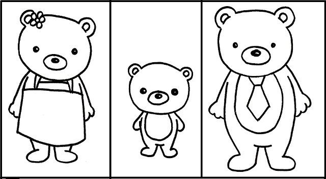 free goldilocks and the three bears printable activity