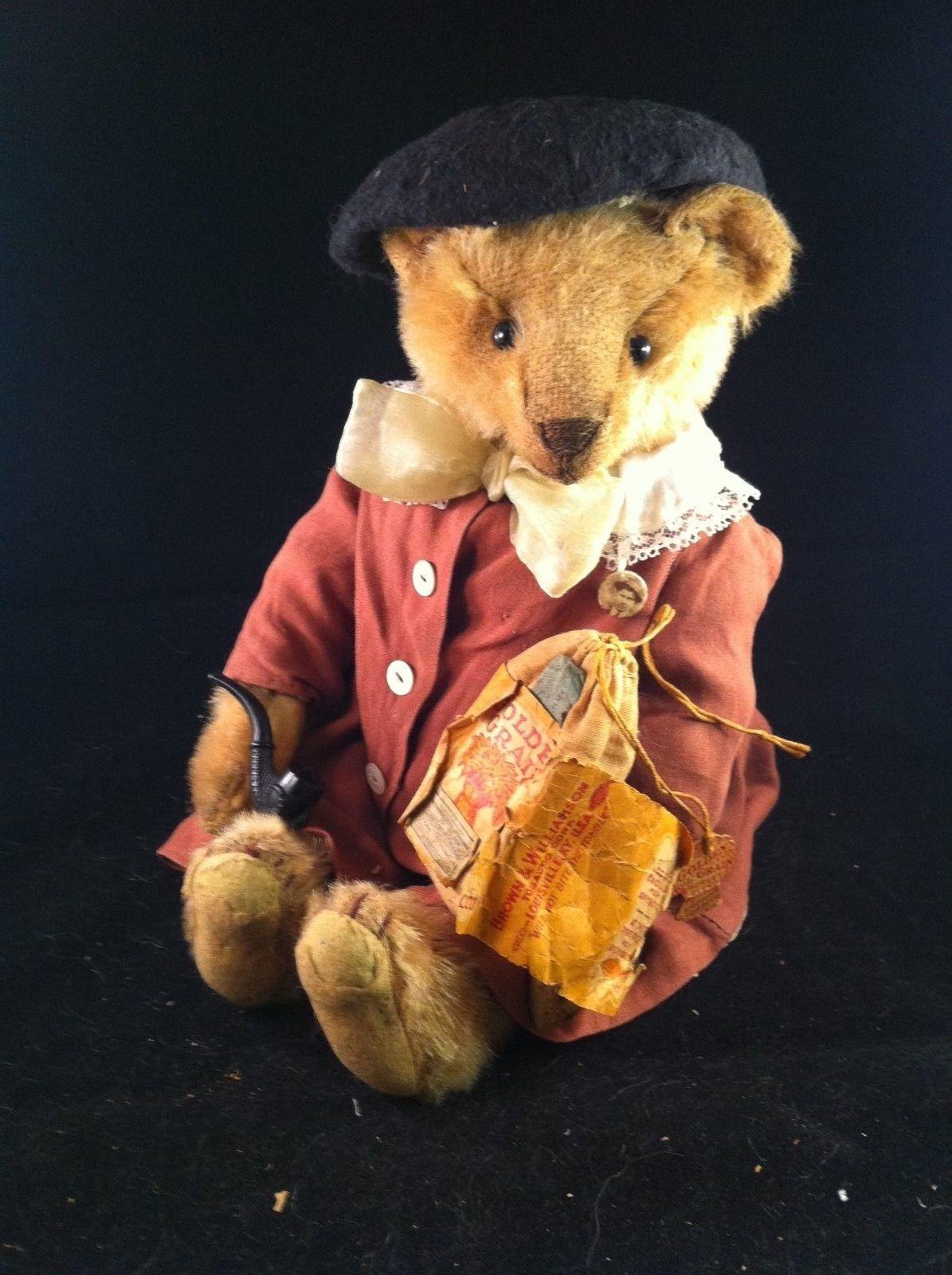 """Alfred A Dapper Antique Steiff Teddy Bear 13"""" eBay"""