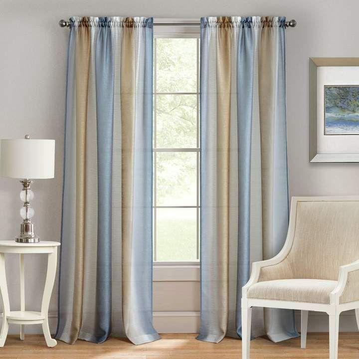 Ophelia Co Orion Solid Semi Sheer Rod Pocket Single Curtain