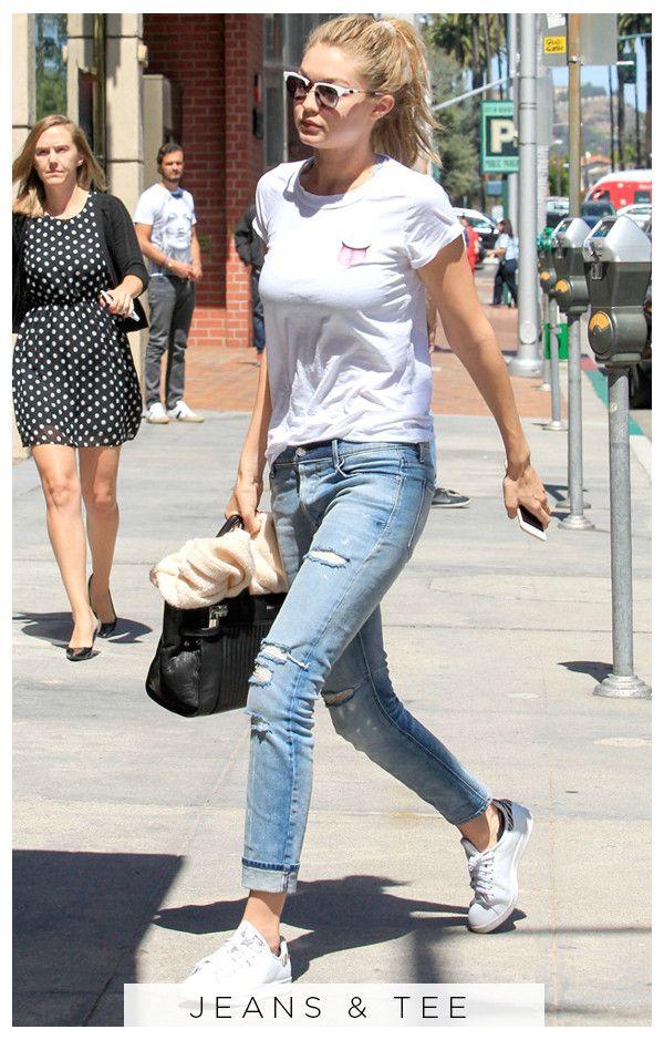7a3287c38 5 Days, 5 Ways: Here's Proof Gigi Hadid Really Loves Her Adidas Sneakers  ESC, 5 Days 5 Ways Gigi