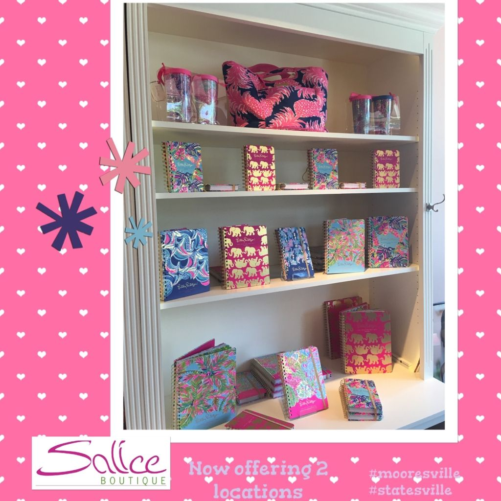 Lily Pulitzer agendas in stock now at both Salices!  Hurry and grab them they are going super fast!!