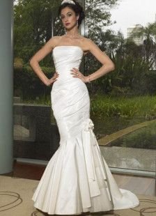 Mermaid Trumpet Strapless Taffeta Wedding Dress. Milanoo $98.99!!!!  www.Milanoo.com Item #03920006200