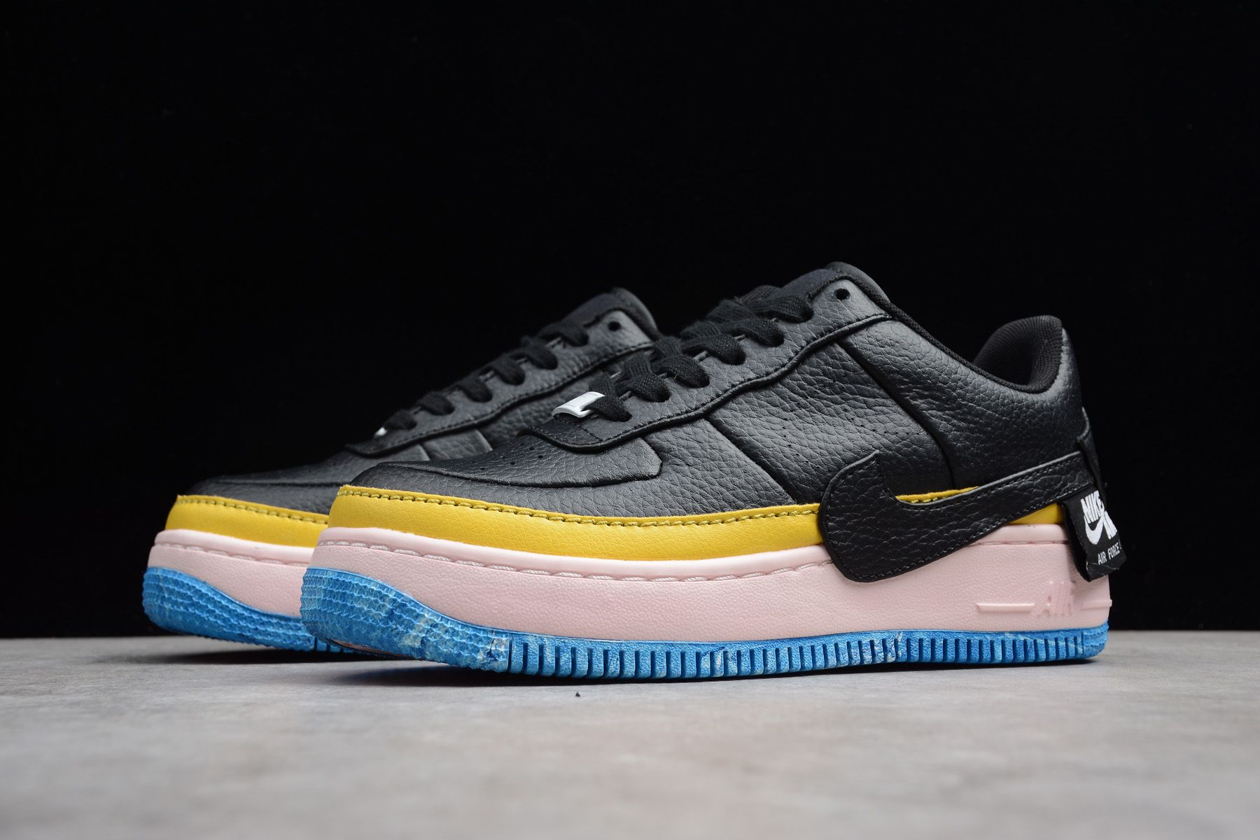 Women s Nike Air Force 1 Jester XX SE Black Sonic Yellow-Arctic Orange  AT2497-001 d33ef21eb