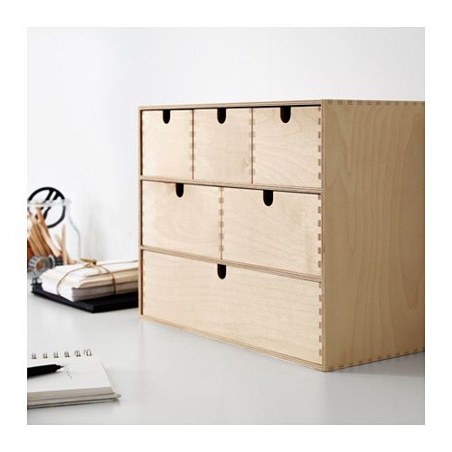 MOPPE Mini storage chest IKEA Helps you organize everything from paper USB sticks and rechargers  sc 1 st  Pinterest & MOPPE Mini storage chest birch plywood | Storage Drawers and Plywood