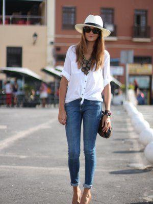 Marianela406862 outfit verano 2012 combinar camisa blusa for Combinaciones con azul