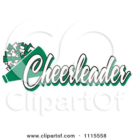 Clipart Green Cheerleader Text With A Pom Pom And Megaphone Royalty Free Vector Illustration By Johnny Sajem Cheerleading Clip Art Free Vector Illustration