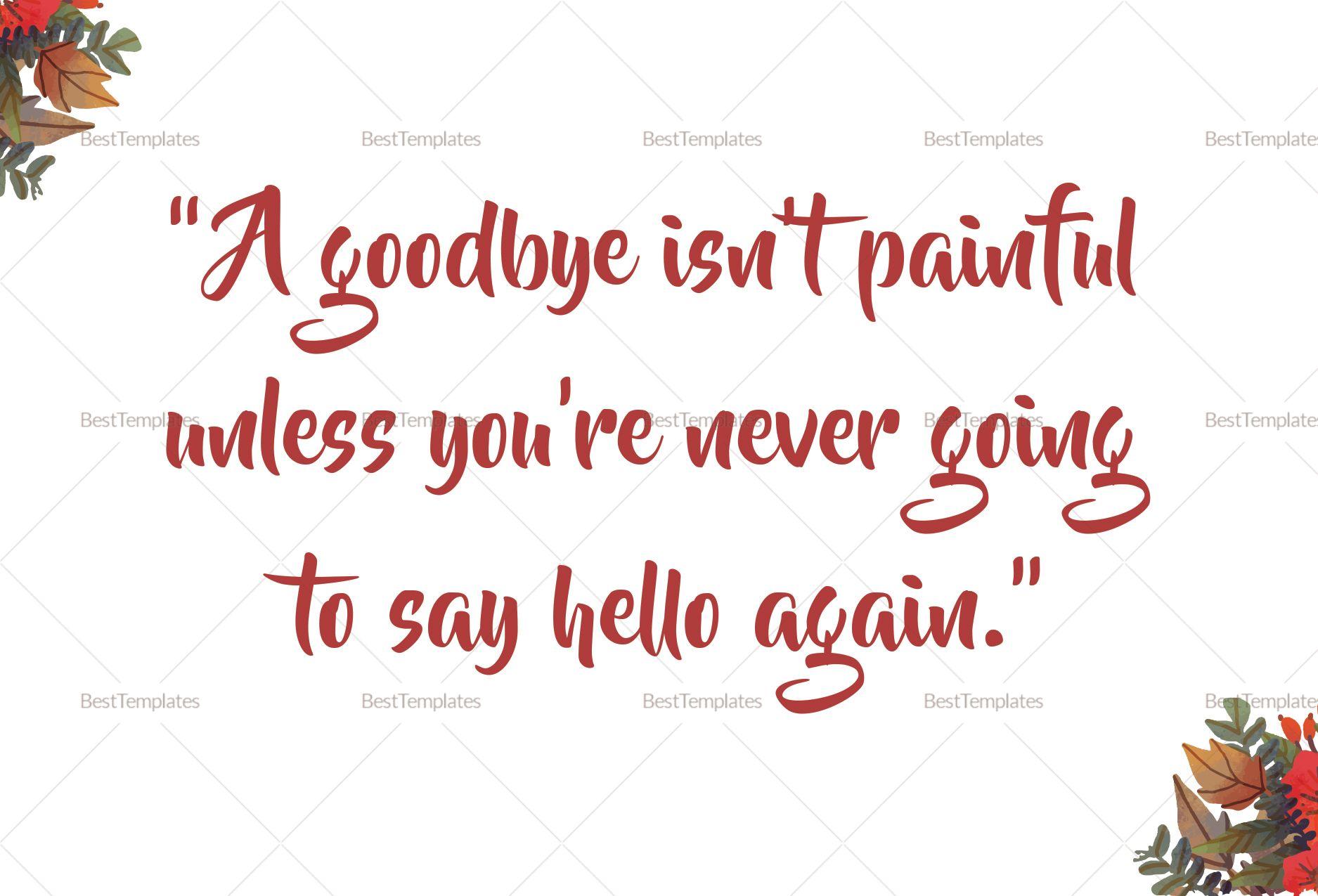 goodbye farewell invitation card template  farewell