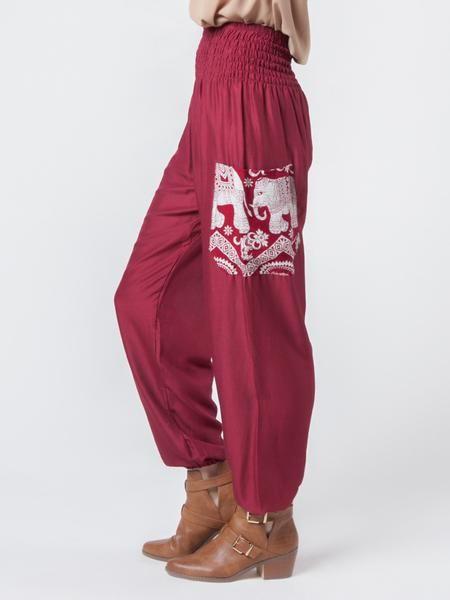 04056e2638f82 Rombo Red Harem Pants | ethical clothing | Pants, Elephant pants ...