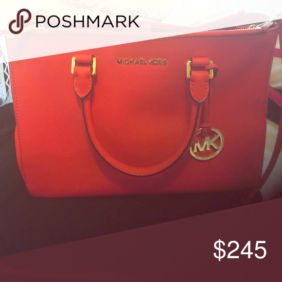 Michael kors bag Red, gold Michael Kors Bags Shoulder Bags