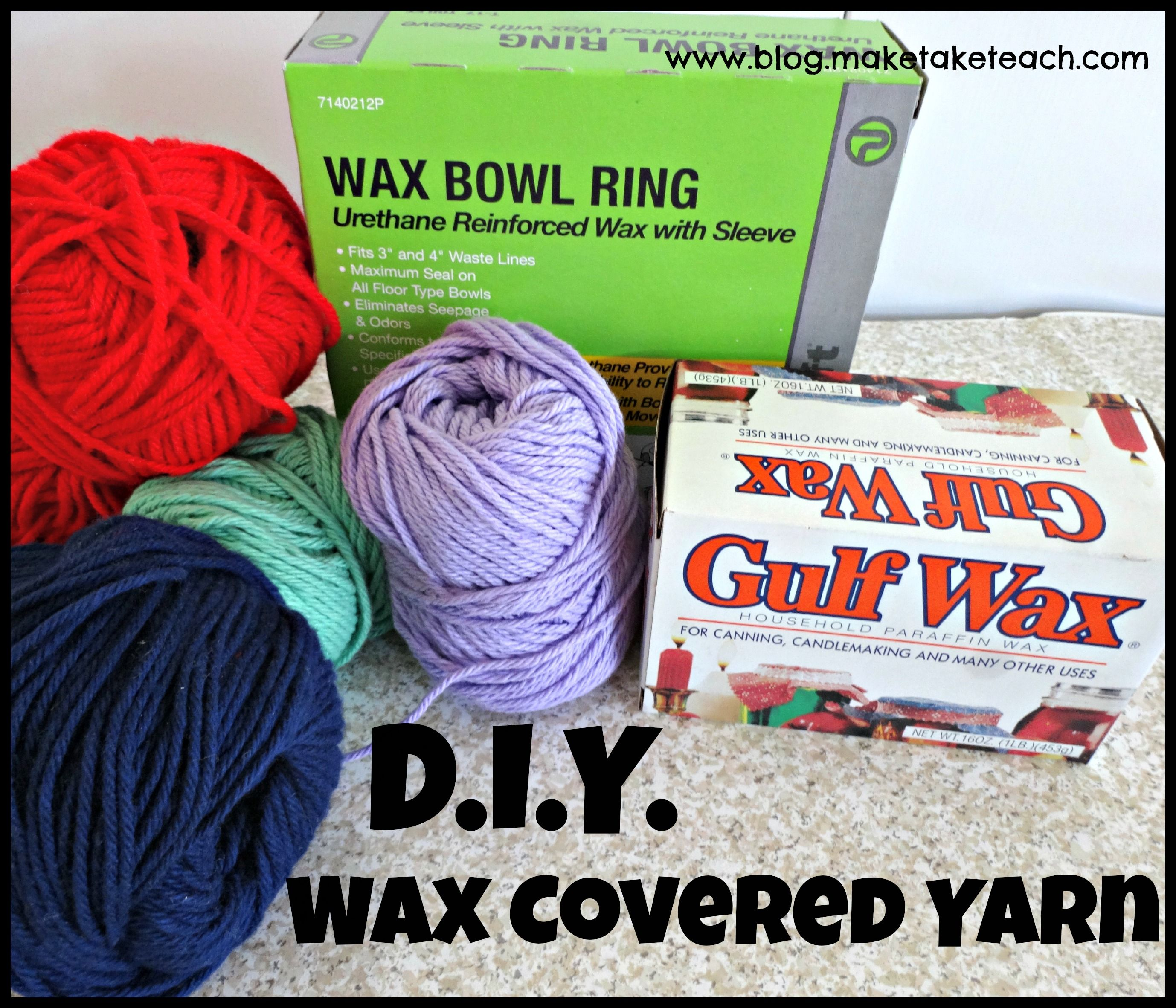 D.I.Y. Wax Covered Yarn- make your own wiki sticks! Great idea ...
