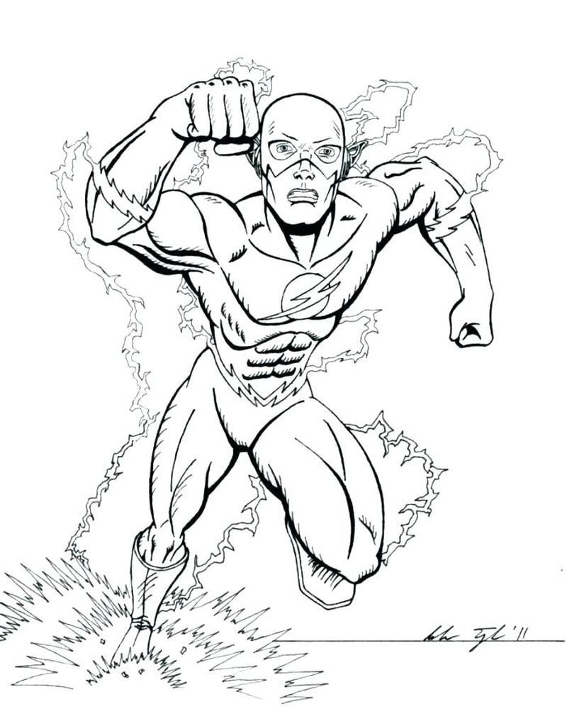 Best Printable Flash Coloring Pages