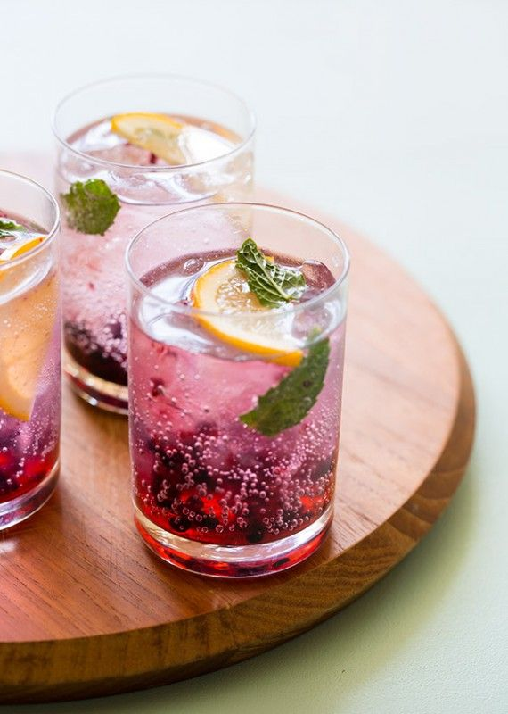 Blackberry and Meyer Lemon Gin and Tonic