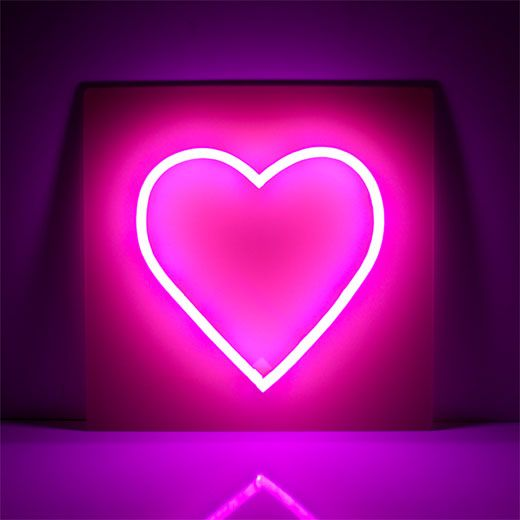 Heart Neon Sign Large Neon Signs Neon Led Neon Signs
