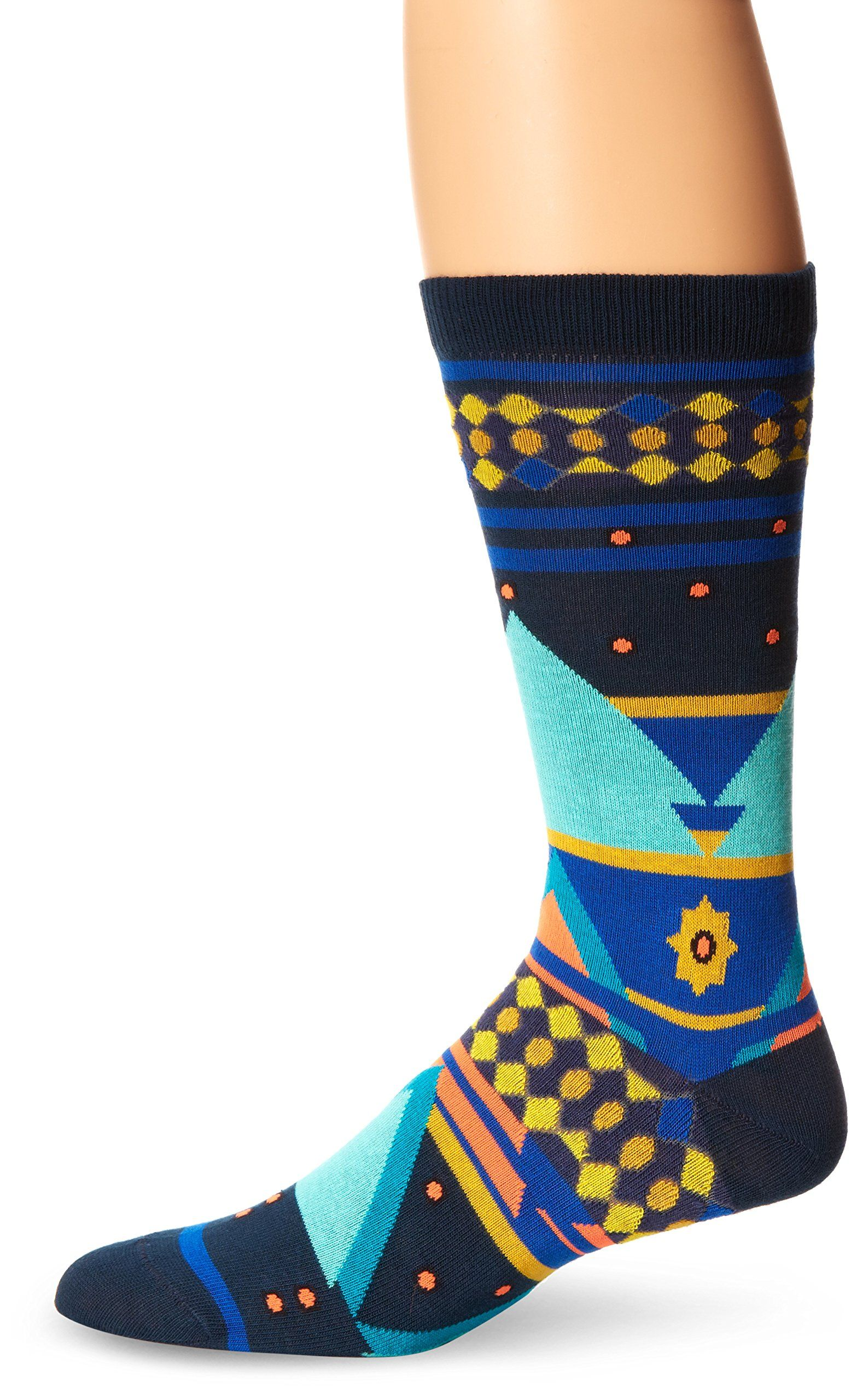 Ozone Mens Seljuk Triangles Sock Navy One Size * See this