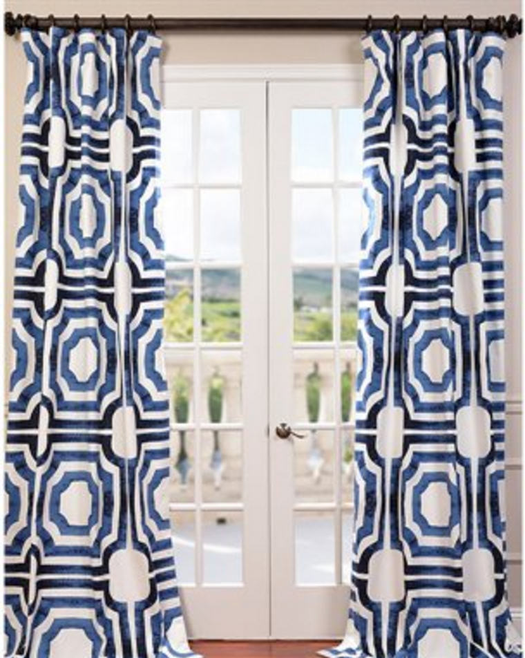 Loving These Bold Printed Curtains Printed Cotton Curtain Panel