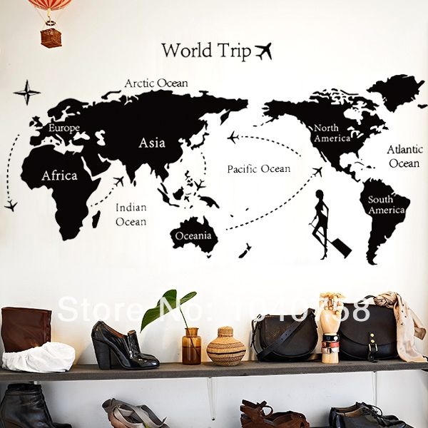 Fashion Wallpaper World Map Photo Wall Mural Kids New House Ideas - best of world map for wall mural
